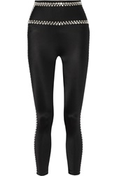 Norma Kamali Studded High Rise Leggings