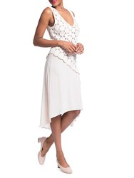 Plenty By Tracy Reese Lace Combo Dress Optic White