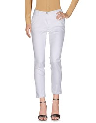 Shaft Trousers Casual Trousers White