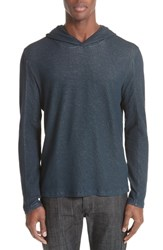 John Varvatos Collection Double Face Hoodie Navy