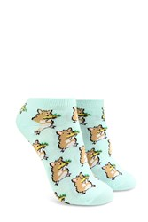 Forever 21 Hamster Taco Ankle Socks Mint Multi