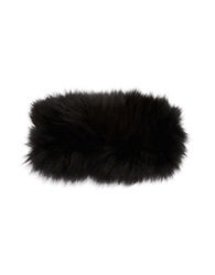 Adrienne Landau Fox Fur Headband Black