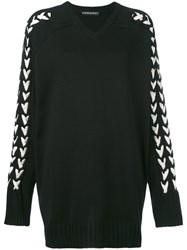 Y Project Braided Sleeve Jumper Women Cotton Acrylic Xs Black