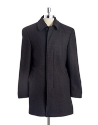 Lauren Ralph Lauren Wool Dress Coat Charcoal