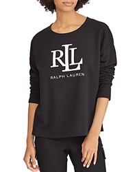 Ralph Lauren Logo Embroidered Sweatshirt Black