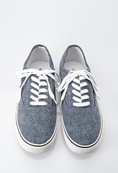 Forever 21 Classic Denim Sneakers Blue
