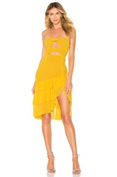 Majorelle Emelia Midi Dress Yellow