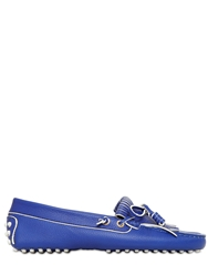 Tod's Heaven Laccetto Leather Driving Shoes Royal Blue