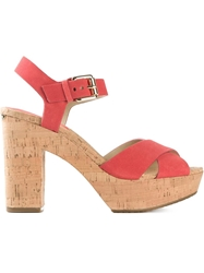 Michael Michael Kors 'Natalia' Sandals Red