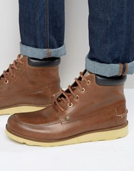 Original Penguin Boots In Tan Leather Tan
