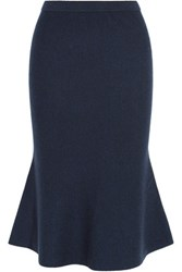 Iris And Ink Tilda Milano Knit Wool Midi Skirt Navy