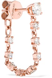 Anita Ko 18 Karat Rose Gold Diamond Earring