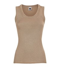 M Missoni Knitted Lurex Tank Top Female Gold