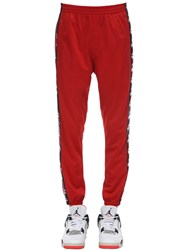But Not Lotto Logo Bands Track Pants Red
