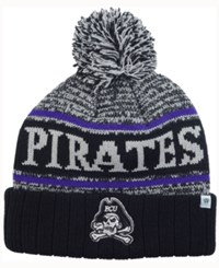 Top Of The World East Carolina Pirates Acid Rain Pom Knit Hat Heather Gray Black Purple