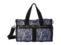 Le Sport Sac Cr Small Weekender Painted Hearts Blue Weekender Overnight Luggage Navy