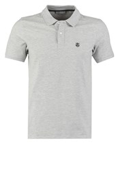 Selected Homme Shdaro Polo Shirt Light Grey Melange