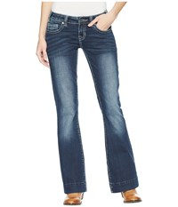 Rock And Roll Cowgirl Trousers Bootcut In Dark Vintage W8 5099 Dark Vintage Jeans Navy