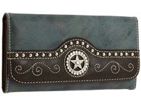 Mandf Western Texas Star Wallet Blue Wallet Handbags