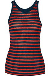 Alexander Wang Striped Jersey Tank Red
