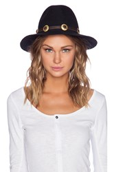 Lovely Bird San Miguel Gold Concho Hat Black