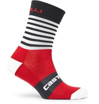 Castelli Gregge Merino Wool Blend Socks Red
