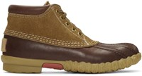 Visvim Brown Decoy Duck Mid Folk Boots