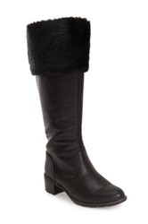 Softspots 'Campbell' Faux Fur Cuff Tall Boot Women Black