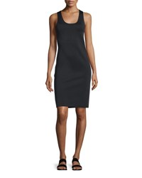 Helmut Lang Neoprene Racerback Sheath Dress Black