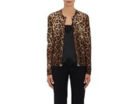 Dolce And Gabbana Women's Leopard Print Cashmere Silk Cardigan No Color