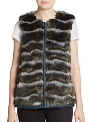 Catherine Malandrino Pepper Faux Fur Vest Light Grey