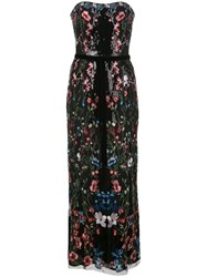 Marchesa Notte Floral Sequin Long Dress 60