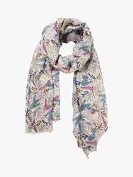 Fat Face Dragonfly Floral Scarf Ivory