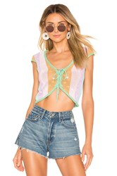 Majorelle Freely Lace Up Green