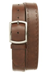 Magnanni Men's Big And Tall Leather Belt Brown