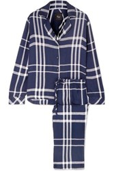 Rails Checked Flannel Pajama Set Midnight Blue