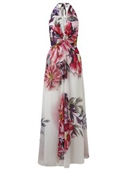 Ariella Benedict Halter Print Maxi Dress Multi Coloured Multi Coloured