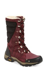 Women's Ahnu 'Northridge Wp ' Insulated Waterproof Boot Red Mahogany