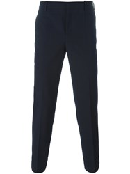 Neil Barrett Pinstriped Tailored Trousers Blue