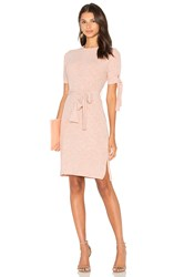 Lavish Alice Rib Jersey Tie Detail Dress Blush