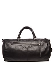 Balenciaga Arena Creased Leather Duffle Bag Black