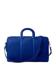 Michael Michael Kors Libby Large Perforated Leather Gym Bag Electric Blue