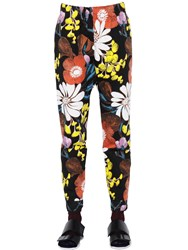 Marni Floral Print Cotton And Linen Drill Pants