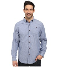 Columbia Boulder Ridge Long Sleeve Shirt Night Tide Men's Long Sleeve Button Up Blue
