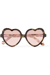Cutler And Gross Love Bite Acetate Mirrored Sunglasses Tortoiseshell