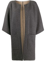 Liska Open Front Cardi Coat Grey