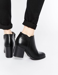 Truffle Collection Dacota Heeled Ankle Boots Blackpu