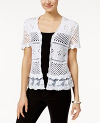 Styleandco. Style And Co. Crochet Shrug Cardigan Only At Macy's Bright White