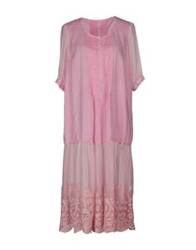 120 Lino 120 Lino Knee Length Dresses Light Pink