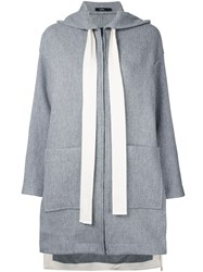 Bassike Hooded Coat Women Wool 14 Grey